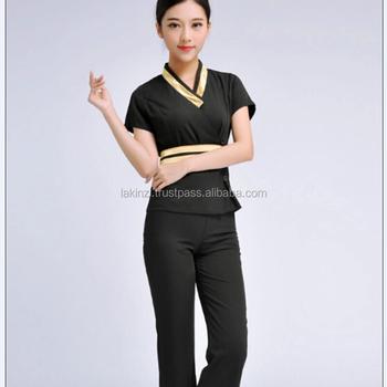 Custom high quality women beauty salon uniform buy for Spa uniform alibaba