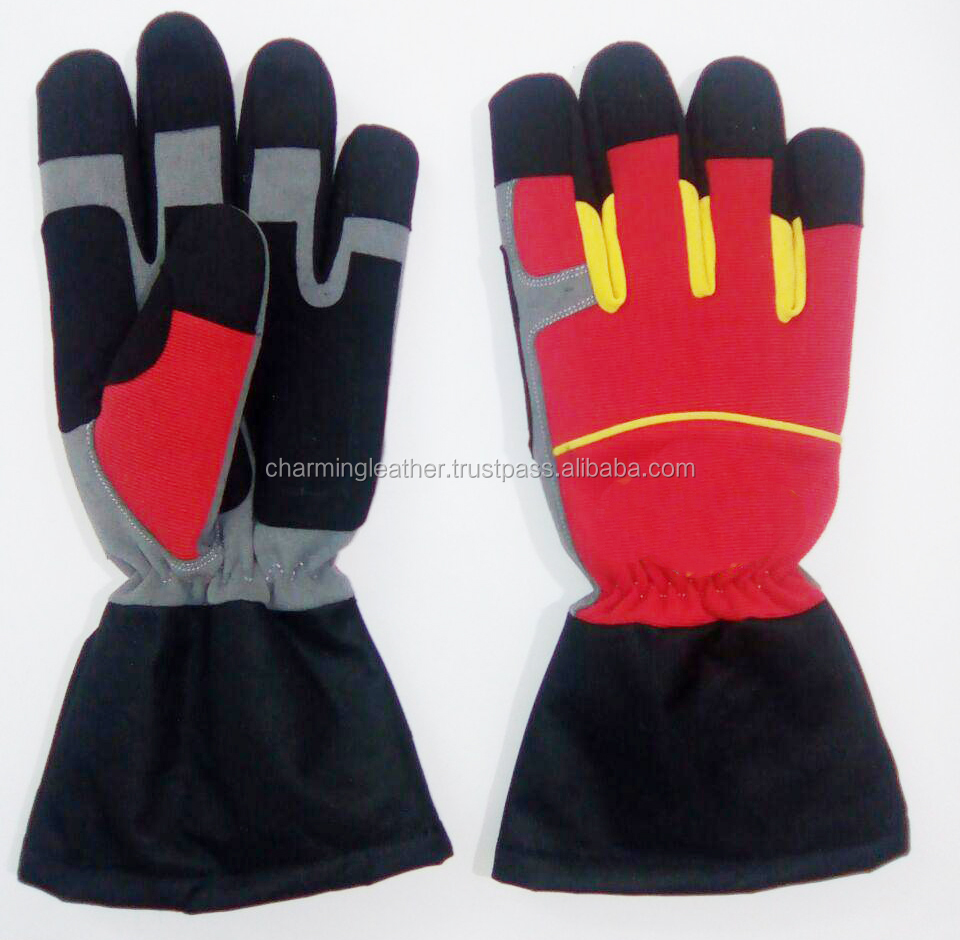 Fully Synthetic Leather Men's Landscape Yard Work Gardening Gloves