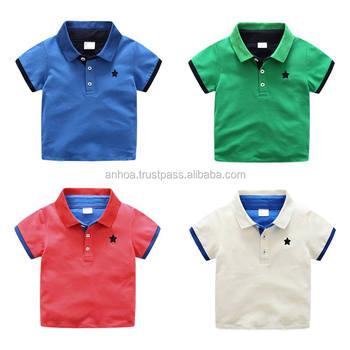 77aeb364c Embroidered polo baby romper onsie designs Most popular colorful  embroidered baby boys summer shirt