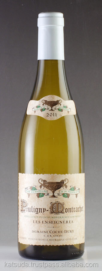 Great red wine price 2011 Domaine Coche Dury Puligny Montrachet Les Enseigneres with rich taste