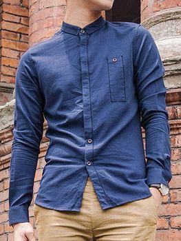 6e5ccc4cf98 2017 New Fashion Design Denim Shirts - Pure Cotton Plain Dyed Men s Denim  Shirt