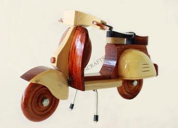 Vespa Wooden Model Mordern Decoration Small Wood Crafts