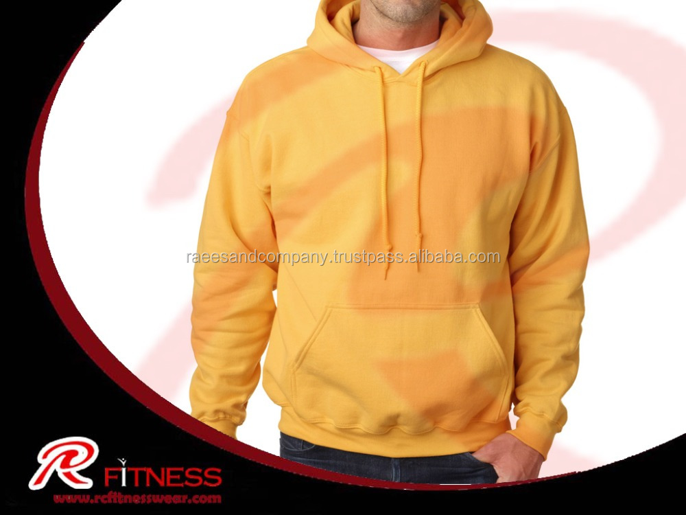 Men Cotton Fleece SweatShirt Full Half White Pullover Hoodie