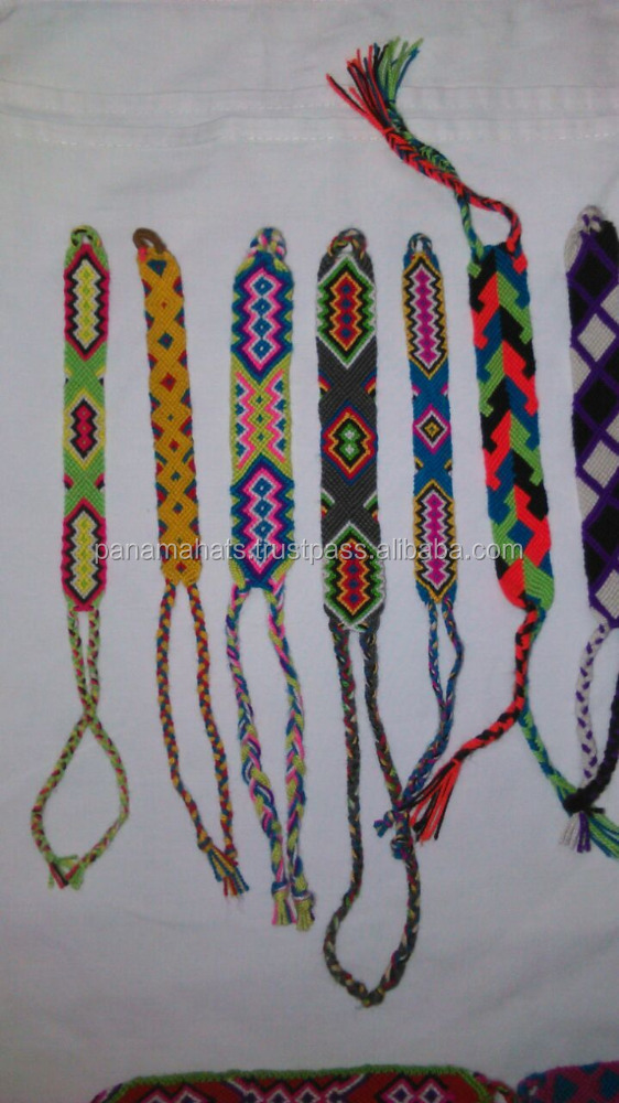 Wayuu Bracelets Handwoven In Cotton Knots Work Small Size 1 5 Cms Knot Colombia Ethnic Indians Colors