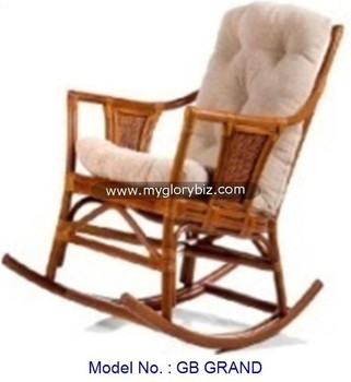 Elegant Style Antique Natural Rattan Rocking Chair In Old Style, Rattan  Indoor Rocking Chair,
