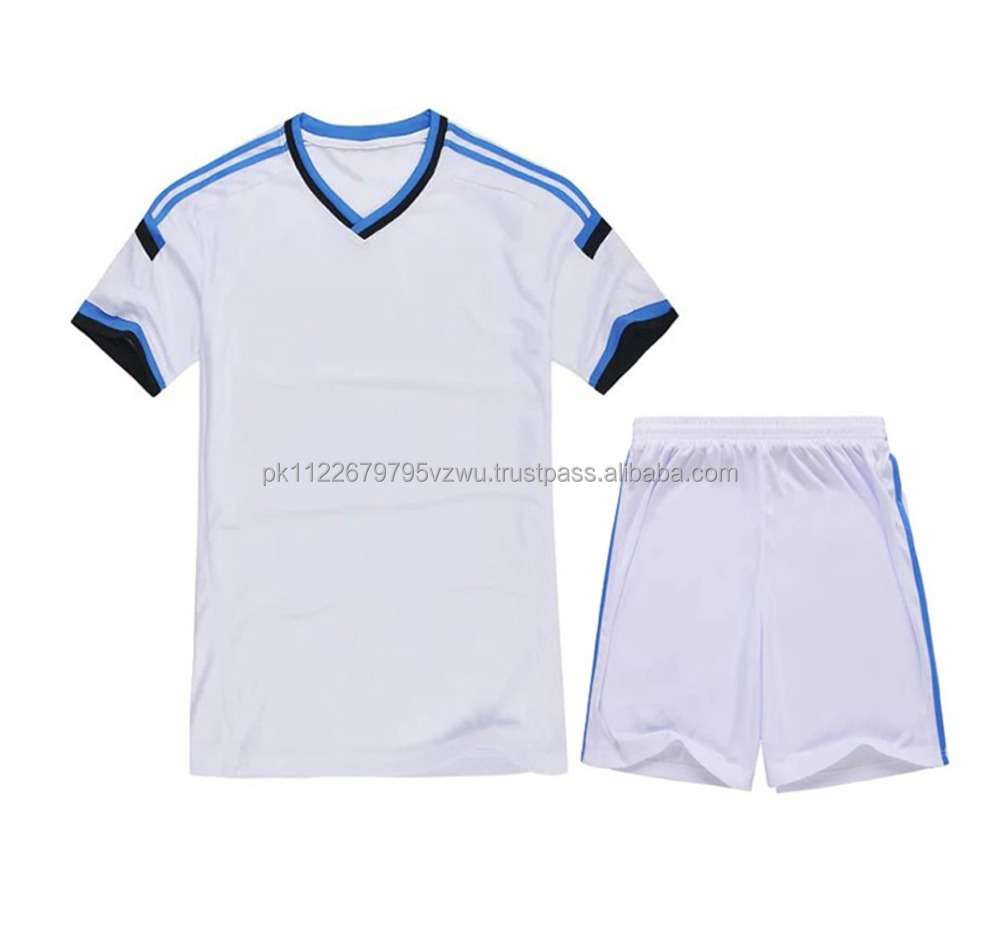 Latest Design Men's Custom Logo White Soccer Jersey, Customize White Color Soccer set for sale