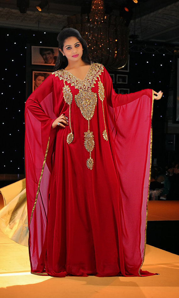 Royal Red Dubai Fashion Kaftan Dubai Very Fancy Kaftans Abaya Jalabiya Ladies Maxi Dress Wedding Gown Buy Long Sleeve Wedding Gowns 2013 2014 2015