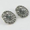 Stylish !! Jali Work Plain Silver 925 Sterling Silver Earring, Fine Silver Jewellery, Indian Fashion Silver Jewellery