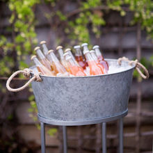 Galvanized Oval Party Tub ice bucket beer cooler | Galvanized Beverage Tub With Stand