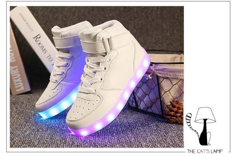 Led Licht Schoenen : Led schoenen groothandel usb lading 11 kleuren melbourne shuffle