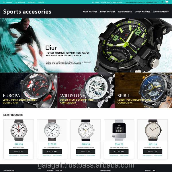 Free Php Website Design and Web Development for Accessories Shop with Domain Registration Service