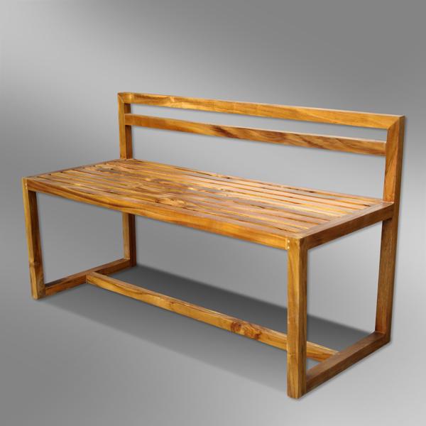 Modern Sleek Outdoor Bench   Dewi Design