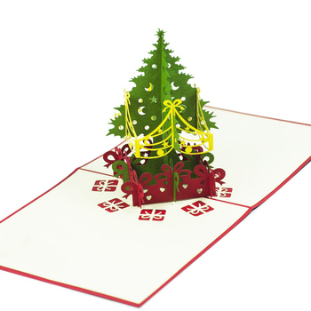 Pop Up Christmas 2016 Mc020 Noel Tree 1 Hot Sales 3d Card For