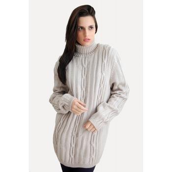 Vintage Style Women High Collar Hemp Flowers Knitted Sweater Woman
