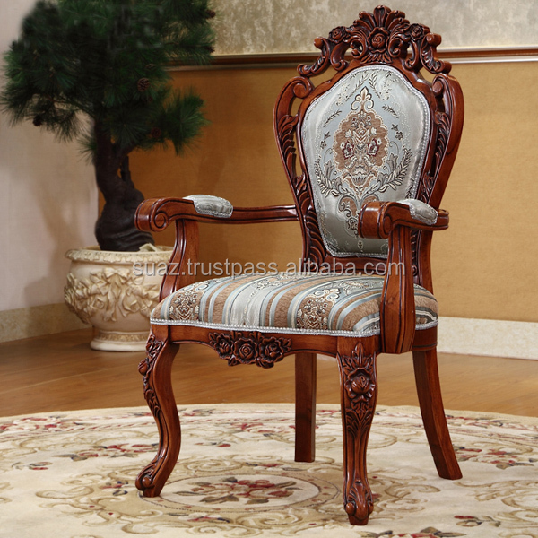 Living Room Chairs Wooden Carved