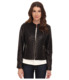 Collarless Moto Diamond Quilted Leather Jacket