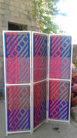 hand woven iron colorful room screens dividers