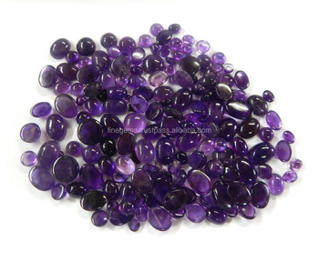 NATURAL AFRICAN PURPLE AMETHYST MIX CAB LOT calibrated/ Free Form