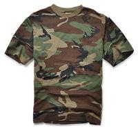 Woodland Camo Military T-Shirt Camoflage US Army Men's