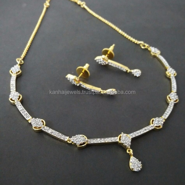 de10a38986 Necklace set Manufacturers of CZ Fashion Jewellery for Women Wholesale  Indian American Diamond Fancy High Quality