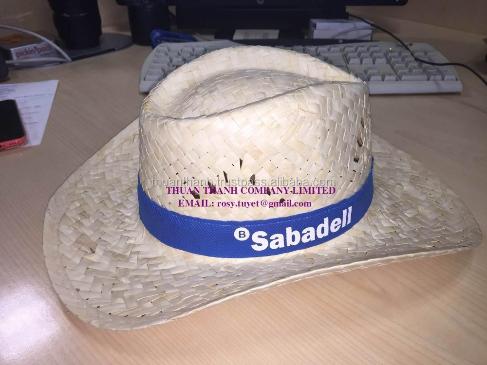 Custom printted logo straw hats made in Vietnam