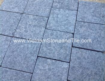 Black Basalt Flamed Floor Tiles Vietnam Tile