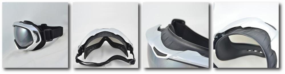 training safety eye wear outdoor sport white ski goggles