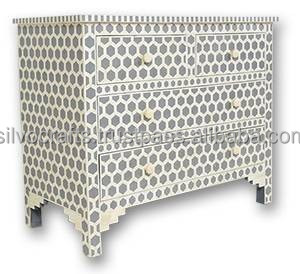 Indian Amp Moroccan Style Camel Bone Inlay Chest Of Drawer