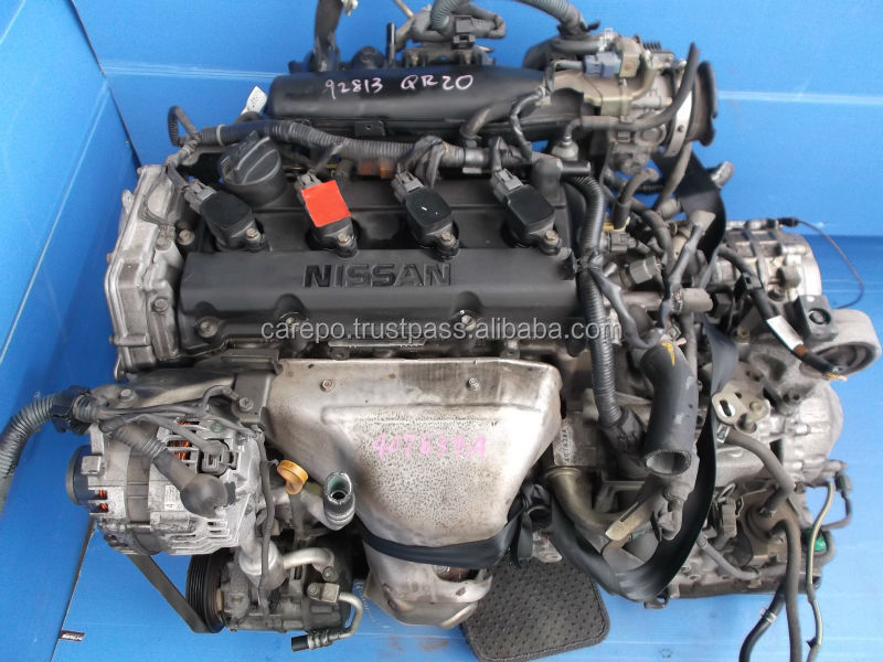 JAPANESE USED CAR ENGINE QR20 WITH GEARBOX (HIGH QUALITY) FOR NISSAN X-TRAIL,SERENA,PRIMERA.