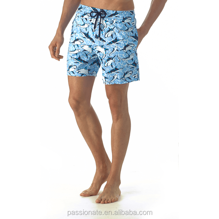 03f360e2d0 Custom made mens beach wear 4 way stretch fabric printed blank board shorts  wholesale from factory