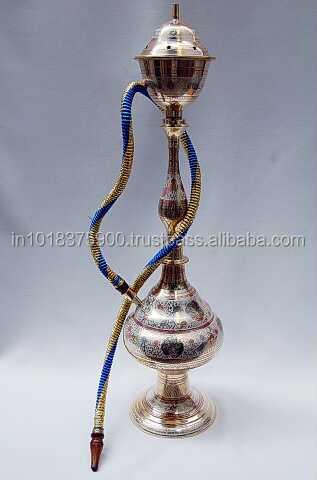 Antique Brass Hookahs Amp Glass Hookha Amp Silver Hookah And