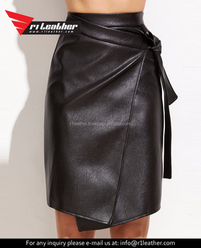 f3d7cb96e8 Sexy Open Back Lace Up Mini Mature Woman Tight Leather Skirts - Buy ...