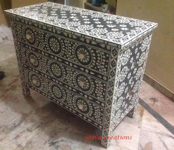 Bedroom Furniture Handmade Bone Inlay Dresser