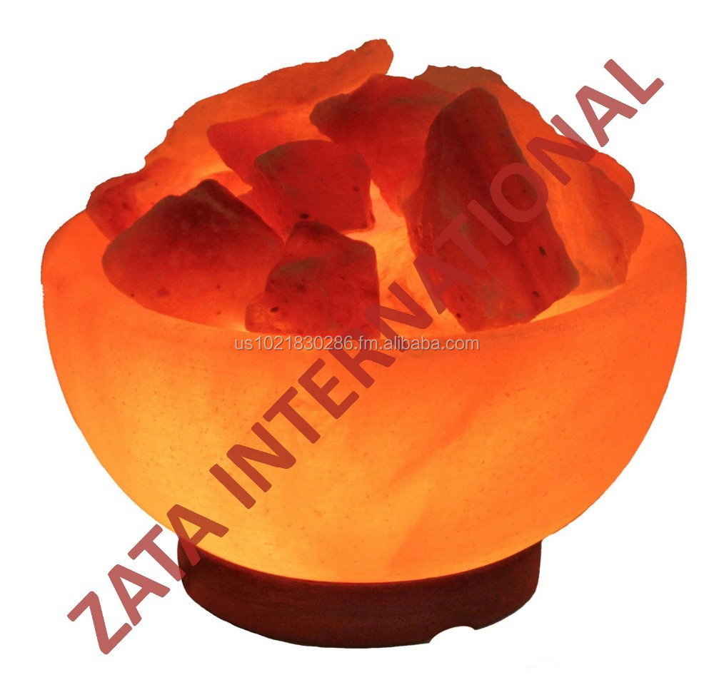 Himalayan Rock Salt Lamp Fire Bowl 3.5 x 6 x 6 Inches UL Approved 6 Feets Cord Bulb w Base