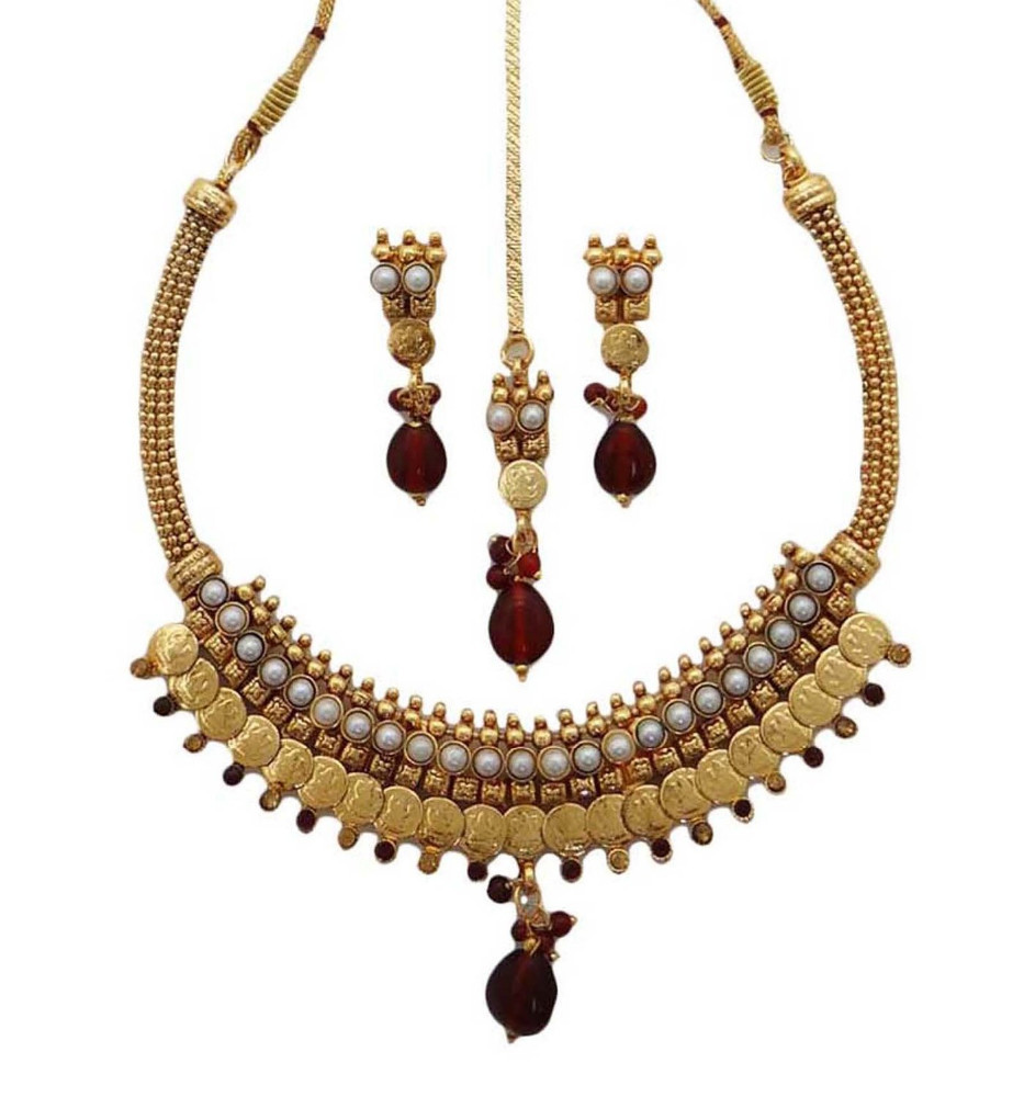 Traditional Polish Wedding Gifts: Traditional Indian Ethnic Necklace Set Gift For Women