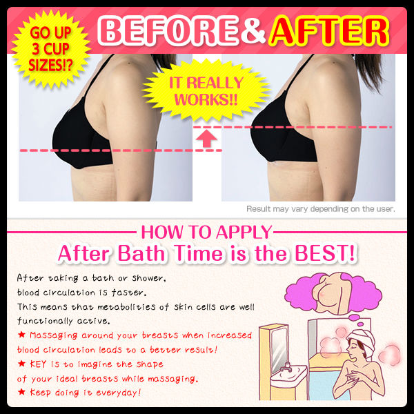 Breast enhancement cream with natural ingredients made in Japan