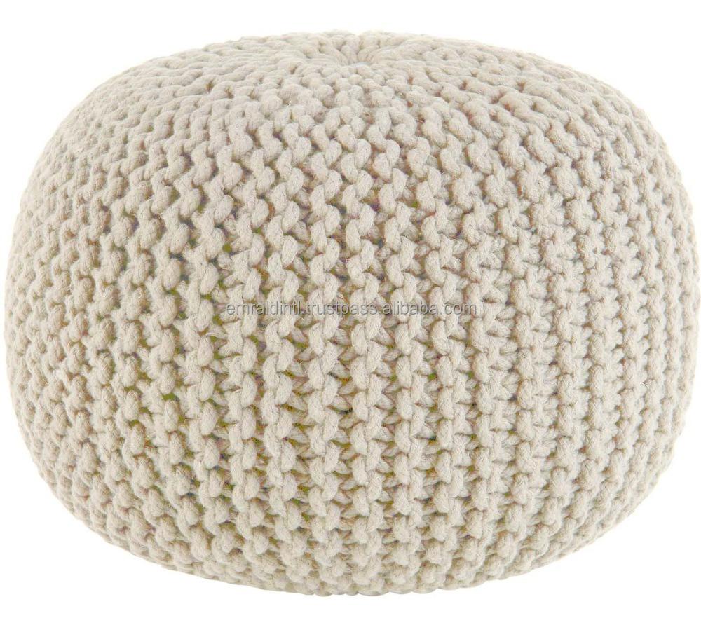 Fantástico Patrón De Crochet Para Otomana Pouf Galería - Ideas de ...