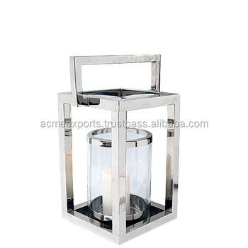 Stainless steel wholesale hurricane lamps & Lanterns With Mirror Polished