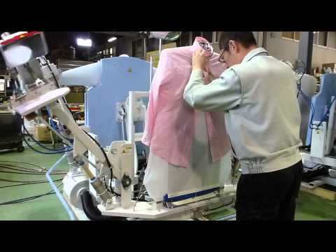 YAC Japan, 110 Shirts/H, shirt press, shirt pressing, shirt finisher, shirt ironing, shirt machine