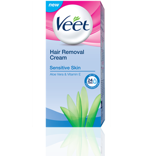 Veet Hair Removal Cream For Sensitive Skin With Aloe Vera And