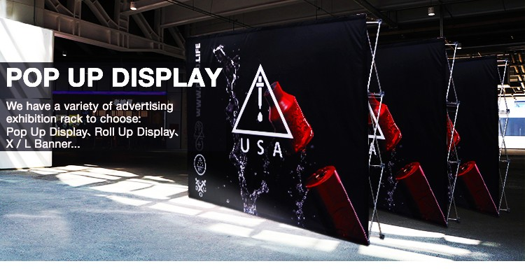 High quality strong exhibition pop up display