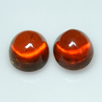 35.25 Cts Natural Orange Spessartite Garnet Loose Gemstone Oval Cabochon Pair