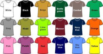 Plain Warna T Shirt Buy T Shirt Product On Alibaba Com