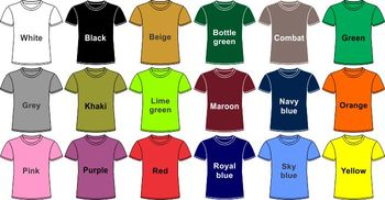 Plain colour t shirt buy t shirt product on for Plain t shirt supplier malaysia