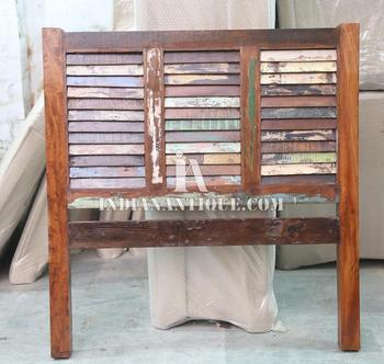 recycled wooden furniture. INDIAN RECYCLED WOOD BED HEADBOARD - RECLAIMED FURNITURE TWIN Recycled Wooden Furniture