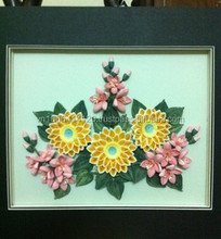 Flower quilling hand made greeting card