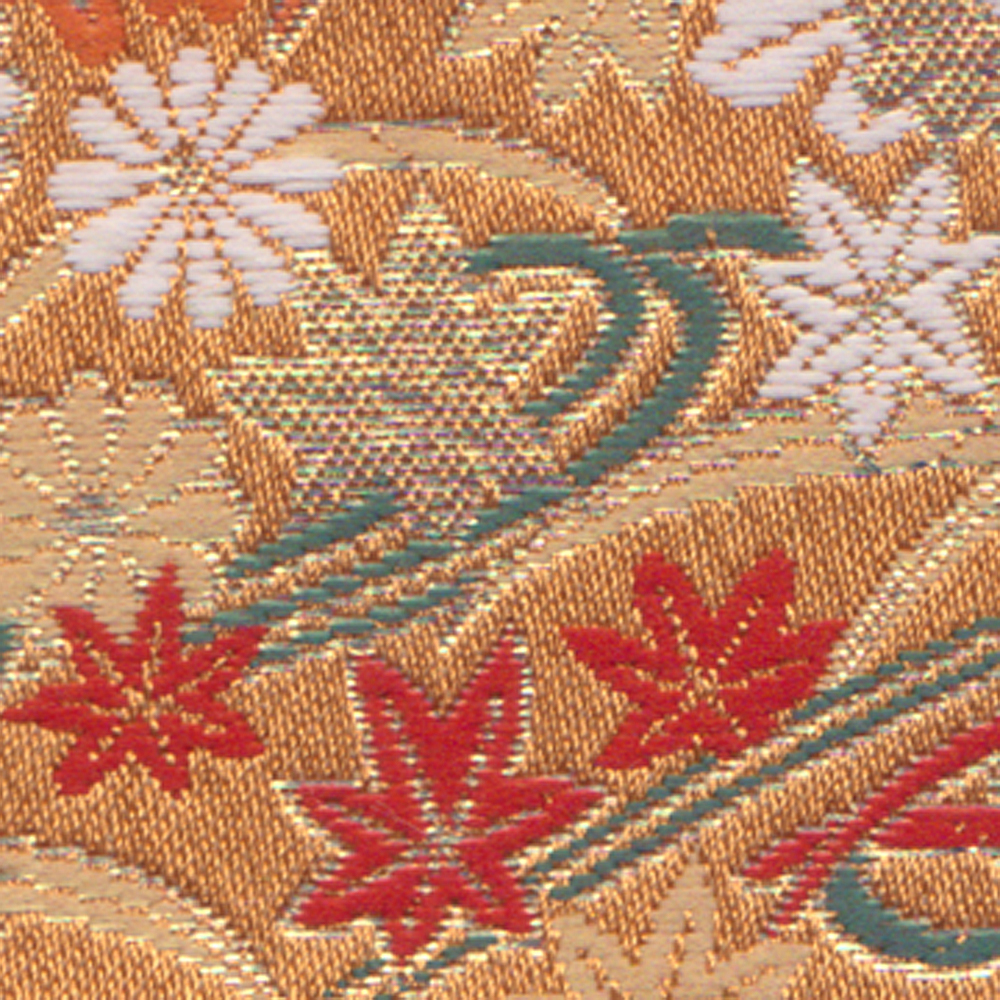 Japanese Kimono brocade fabric with many colors and design made in Japan, American companies looking for distributors