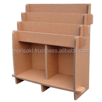 Eco Friendly Tree Bookshelf Hacomo Corrugated Cardboard Furniture For Easy To Use Small Lot