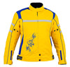 Women's High Visibility Cordura Leather Jacket, New Flash Gear Textile Cordura Motorbike Windproof Women yellow jacket
