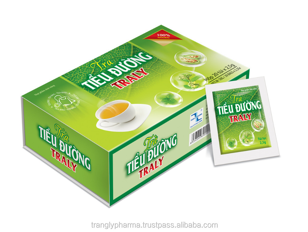 TRA TIEU DUONG TRALY TEA - Food supplement, herbal materials from Viet Nam, Help to enhance fat metabolism